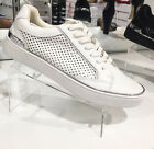 """WINDSOR SMITH LADIES FLAT SNEAKERS CASUAL SHOES NEW""""HARLEY""""R$129.95 WHITE"""