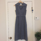 1960's 1970's 60's Vintage Casi Maxi Dress Gray Blue Belted Fit Flare Boho 4