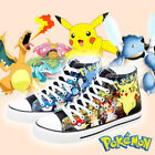 Anime Pokemon Pikachu Star sign Canvas Casual Sneakers Shoes Unisex Cospolay Hot