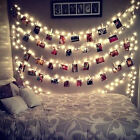 10 LED Photo Peg Clip Fairy String Light Wedding Hanging Picture Party Decor DIY