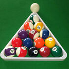 Spots Stripes Numbered Pool Balls Billiard Rack Triangle £29.99 GBP on eBay
