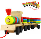 Toys Wooden Stacking Train Blocks Toddle Toys Baby Early Learning Building Block