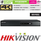 HIKVISION 4K UHD H.265 4 Channel 8MP NVR ONVIF IP CCTV VIDEO RECORDER STORAGE