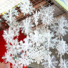 150pcs Xmas Christmas Snowflake Ornaments Tree Holiday Party Home Decorations