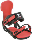 BRAND NEW TECHNINE CARBON CLASSIC SNOWBOARD BINDINGS BLACK/RED MEDIUM LARGE