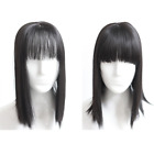 Us- Synthetic Hair Topper Hairpiece Bangs Straight hair Topper Hair Piece Toupee