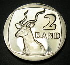 Soth Africa 2 Rand coin 1991 Proof  KM# 139 Greater Kudu Deer