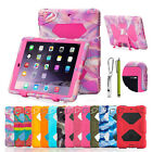 Rubber Kids Shockproof Case Heavy Duty W/ Hard Stand Cover For iPad mini 123 NEW