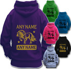 PERSONALISED HORSE RIDING HOODIE Children's Adult's GYPSY VANNER COB HEAVY HORSE