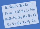 Disney Font Upper & Lower Alphabet Letter Stencil - Reusable Mylar