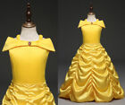 Kid Girl Beauty and the Beast Princess Belle Party Gown Prom Pageant Dress