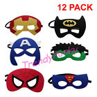 12X Superhero Masks Felt Soft Headwear Costume Birthday Party Favor Marvel Comic