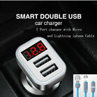 Car Charger phone 3.1 amp LED Digita with cord for samsung galaxy s8 plus s7 s6
