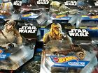 STAR WARS HOT WHEELS CARSHIP & CHARACTER CARS COLLECTION: PICK YOUR CAR/SHIP $7.95 USD