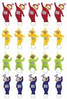 Teletubbies Edible Wafer Cup Cake Toppers Standing or Disc