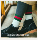 Womens White  Socks with Green Red Stripes