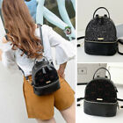 Convertible Sequined Faux Leather Small Mini Backpack Shoulder bag Purse Cute