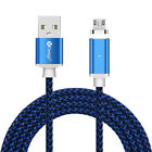 1M 2M 3M Braided Magnetic LED Micro USB Fast Charging Charger Data Sync Cable