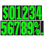 5 1/2 Inch Chartreuse Numbers Car Dealer Windshield Pricing Stickers You Pick