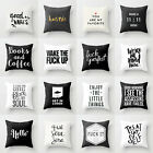 18x18'' Funny words cushion cover pillow case cover waist throw sofa Home Decor