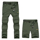 Mens Outdoor Quick-Drying Pants Climbing Travel Detachable Trousers Fast Shorts