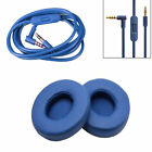 beats audio boombox - Ear Pads Cushion + Audio Cable Cord For Beats by Dr Dre Solo 2 Wired Replacement