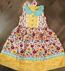 Jelly the Pug Spring Bling Mallory Dress 100% Cotton NWT