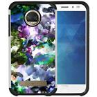 For Motorola Moto Z2 Force Marble Design Hybrid Armor Case Dual Layers Cover