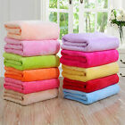Comfortable Warm Micro Fleece Solid Plush Blanket Throw Rug Bedding Yoga Mat image