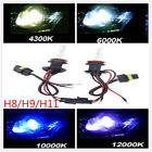 Pair 35W H8 H9 H11 Car Xenon HID Headlight Lamp Bulb 4300/6000K 10000K 12000K DG