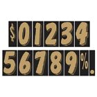 7 1/2 Inch Gold & Black Numbers Car Dealer Windshield Pricing Sticker You Pick