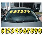 9 1/2 Inch Yellow & Black Numbers Car Dealer Windshield Pricing Sticker You Pick