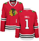 Glenn Hall Chicago Blackhawks Home Red Womens Premier Jersey by Reebok