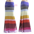 Striped Colorful Knitted Print Sublimation Maxi Long Skirt S/M/L/XL/1XL/2XL/3XL