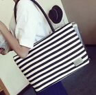 blue and white striped purse - Canvas Tote Handbag Purse fashion Women