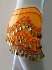 Sale Belly Dance Costumes Hip Scarf Wrap Belt Skirt Gold Coins Beads
