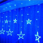 138led Romantic Star String Fairy Curtain Light Wedding Xmas Valentine's Day Us