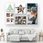 CHRISTMAS GIFT. OWN PHOTO COLLAGE CANVAS. 1-100 PHOTOS, MANY QUALITY DESIGNS