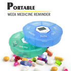 Weekly 7 Days Digital Round Pill Box Medicine Case Timer Alarm Clock Reminder