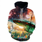 Fashion 3D Graphic Print Hoodie Men Women Sweatshirt Jacket Pullover Top Jumpers