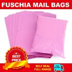 Pink Polythene Plastic Mailing Postal Packaging Bags with Strong Self Seal Strip