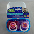 Night Time Glow in the Dark Pacifier 2 pack 0 months+ Sterilizer & Travel Box