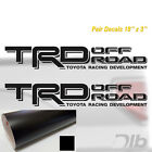 TOYOTA TRD OFF ROAD Decal Sticker PAIR truck bed Offroad Tacoma Tundra Decals