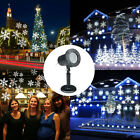 Snowflake Moving LED Landscape Laser Projector Wall Trees Xmas Lights Lamp Gifts