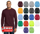 Long Sleeve T-Shirt Comfort Blend Soft Color Blank Plain Mens Tee Casual PC55LS image