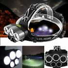 50000LM 5 Head CREE XM-L T6 LED 18650 Headlamp Headlight Flashlight Torch Lamp
