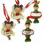 Christmas Tree Decoration - Elf / Fairy - Add own Name OR 1st Xmas 2017