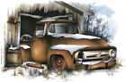 Ford '53-'56 Pickup F100 Barn Find Truck T-shirt Small to 5XL