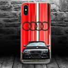 Audi quattro RS sports car V12 race S GEL PLASTIC thin iPhone X 10 case cover