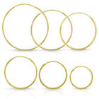 14k Yellow Gold Womens Endless Tube Hoop Earrings 1mm Thick 10mm - 20mm image